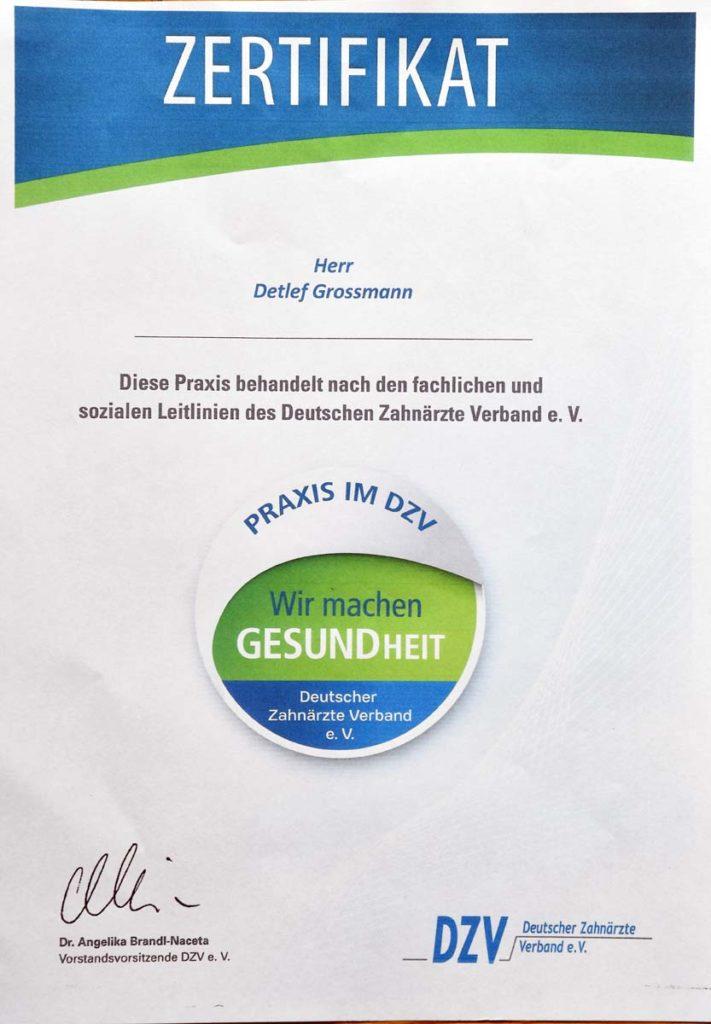 DZV Zertifikat